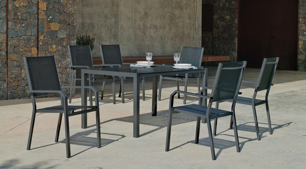 Set Mesa de aluminio Palma/Gema 150-6 - Set Mesa de aluminio Palma/Gema 150-6