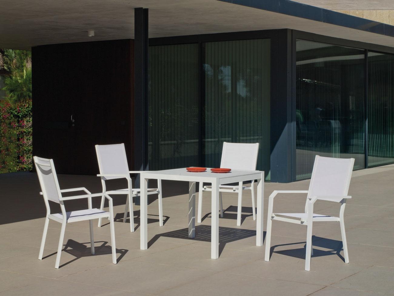 Set Mesa de aluminio Palma/Gema 90-4 - Set Mesa de aluminio Palma/Gema 90-4