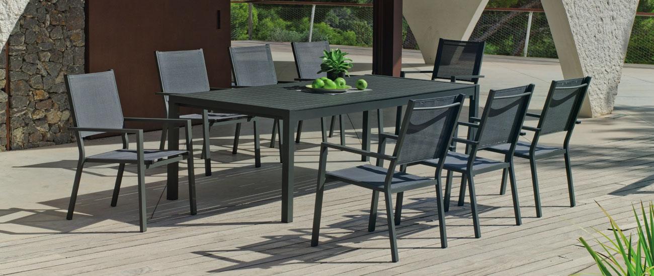 Set Mesa de aluminio Palma/Roma 200-8 - Set Mesa de aluminio Palma/Roma 200-8