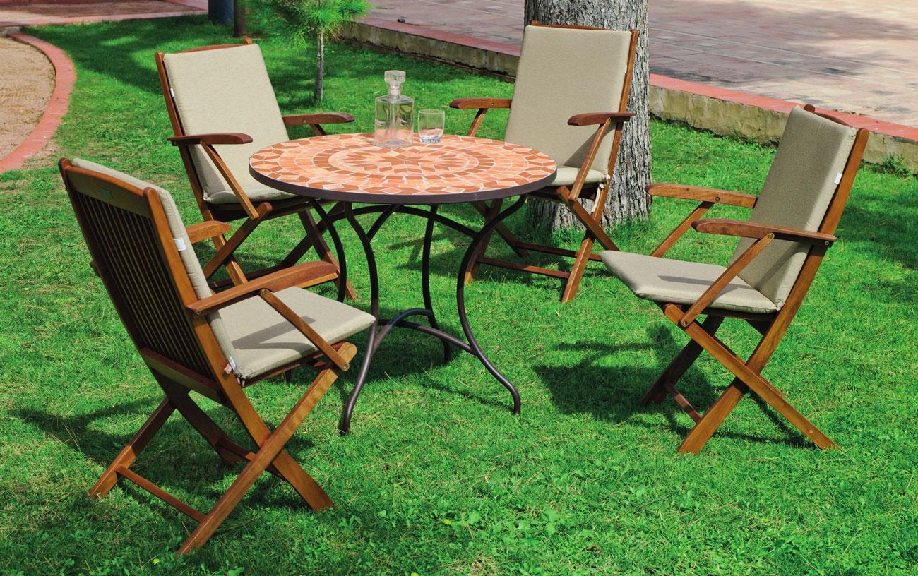Comedor de jardín Mosaico Set Priscila Manila-90 - Comedor de jardín Mosaico Set Priscila Manila-90