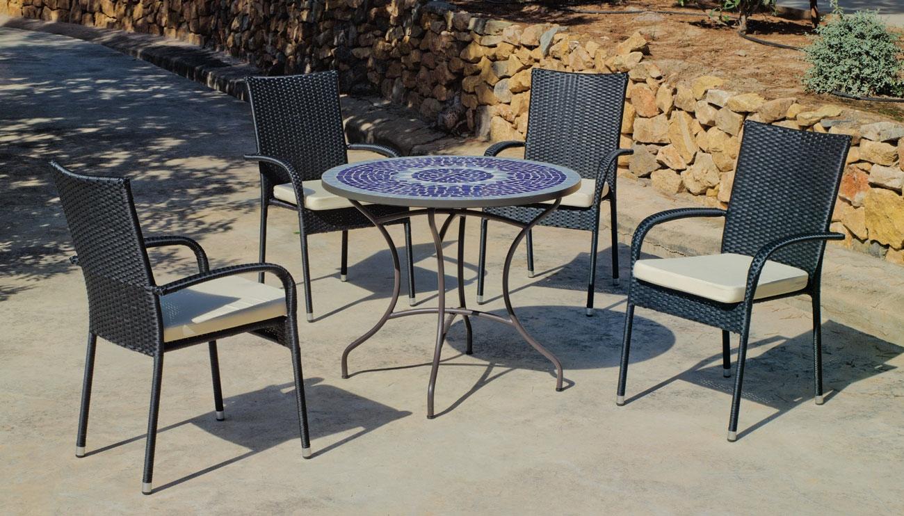 Set Comedor de jardín Mosaico Ródano/Ampurias - 90