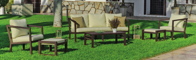 Sofa de lujo para exteriores Acapulco 8 - Muebles robustos con resistencia garantizada y acabado de lujo Acapulco 8