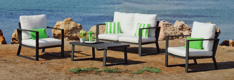 Sofa BOLONIA 7 - Sofa BOLONIA 7, fabricado en aluminio y tapicería Dralón