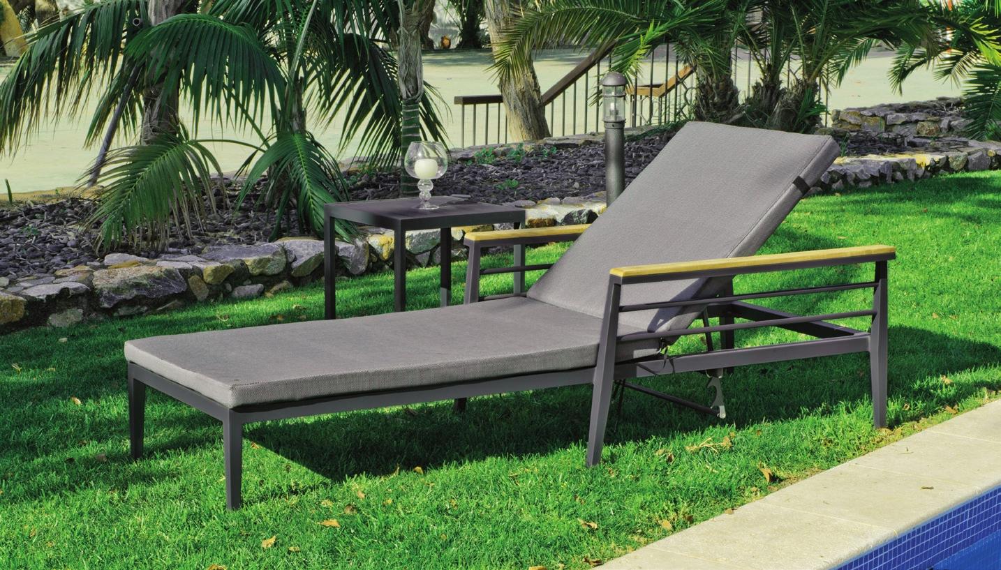 Tumbona CORSICA - Tumbona CORSICA, fabricado en aluminio y tapicería Dralón
