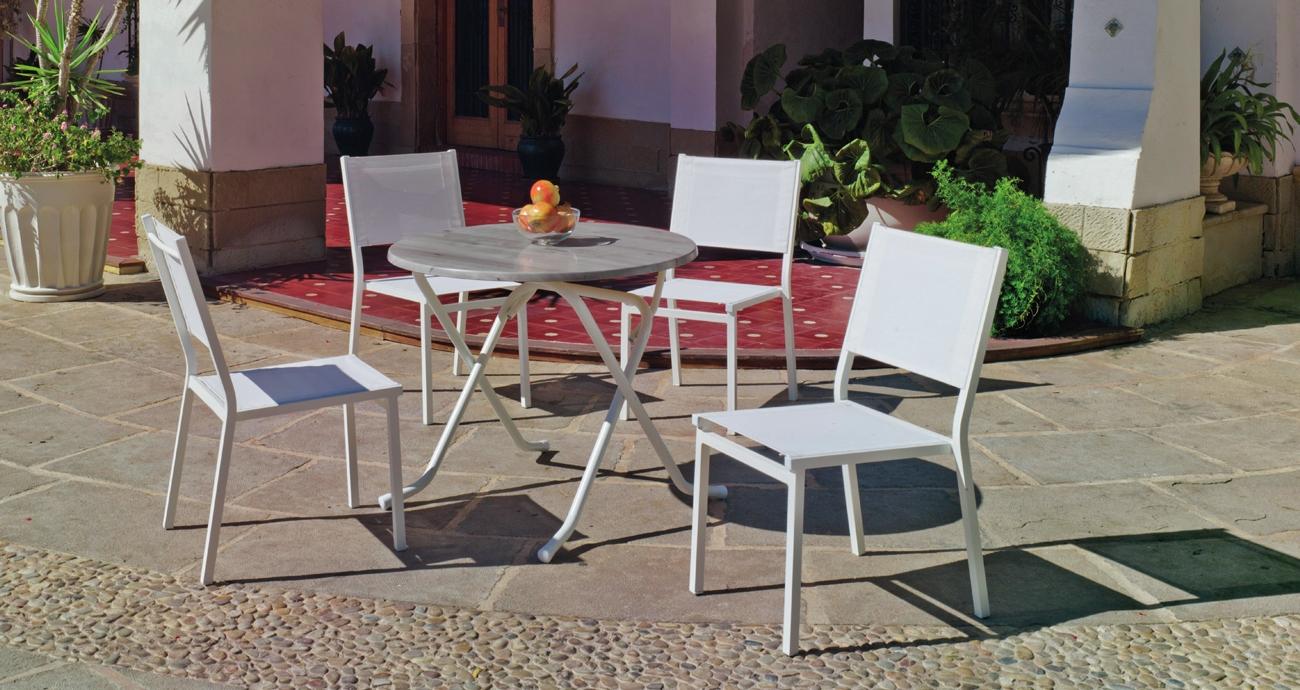 Mesa de comedor ARIAN 90 SION - Mesa de comedor ARIAN 90 SION con tablero Heverzaplus