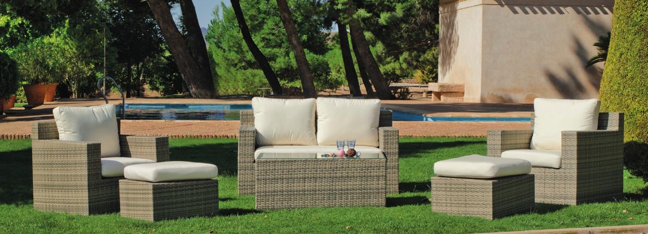 Set muebles de lujo para exteriores ABASARI 9 - Muebles de Rattan de lujo con resistencia garantizada