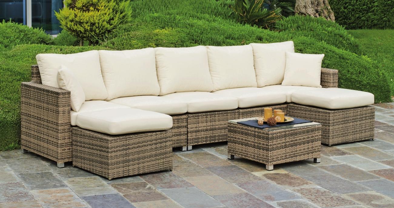 Set muebles de lujo para exteriores ABASARI 37 - Muebles de Rattan de lujo con resistencia garantizada