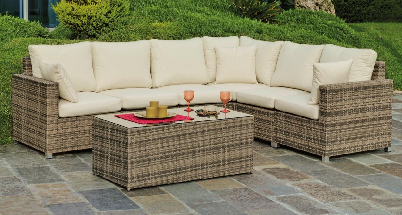 Set muebles de lujo para exteriores ABASARI 38 - Muebles de Rattan de lujo con resistencia garantizada