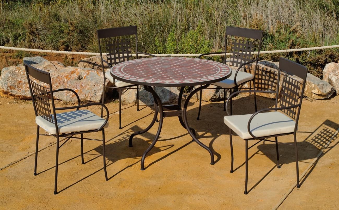 Set sillas o mesa mosaico modelo Alban/Vigo 100 - Set sillas o mesa mosaico modelo Alban/Vigo 100