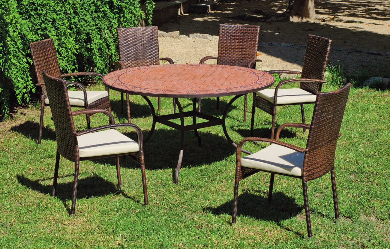 Set sillas o mesa mosaico modelo Belice/Bergamo 140 - Set sillas o mesa mosaico modelo Belice/Bergamo 140