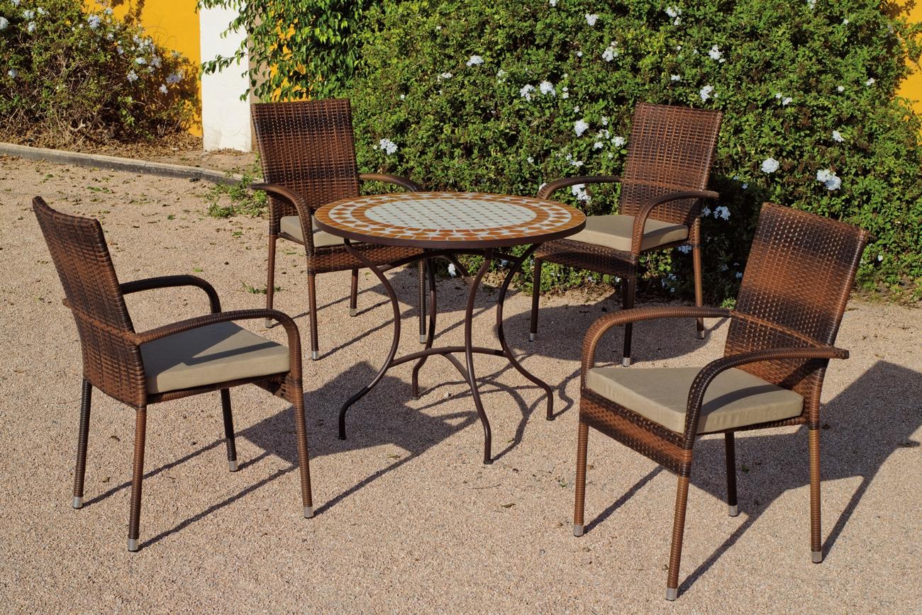 Set sillas o mesa mosaico modelo Berna/Bergamo 90