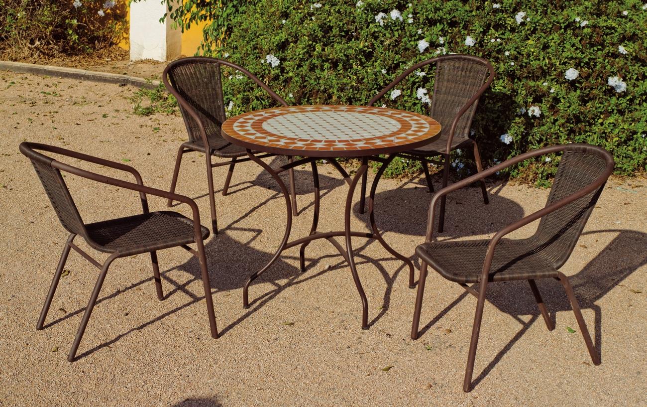 Set sillas o mesa mosaico modelo Berna/Damasco 90