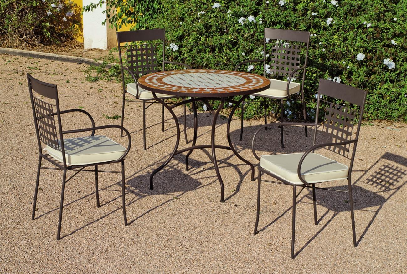 Set sillas o mesa mosaico modelo Berna/Vigo 90 - Set sillas o mesa mosaico modelo Berna/Vigo 90