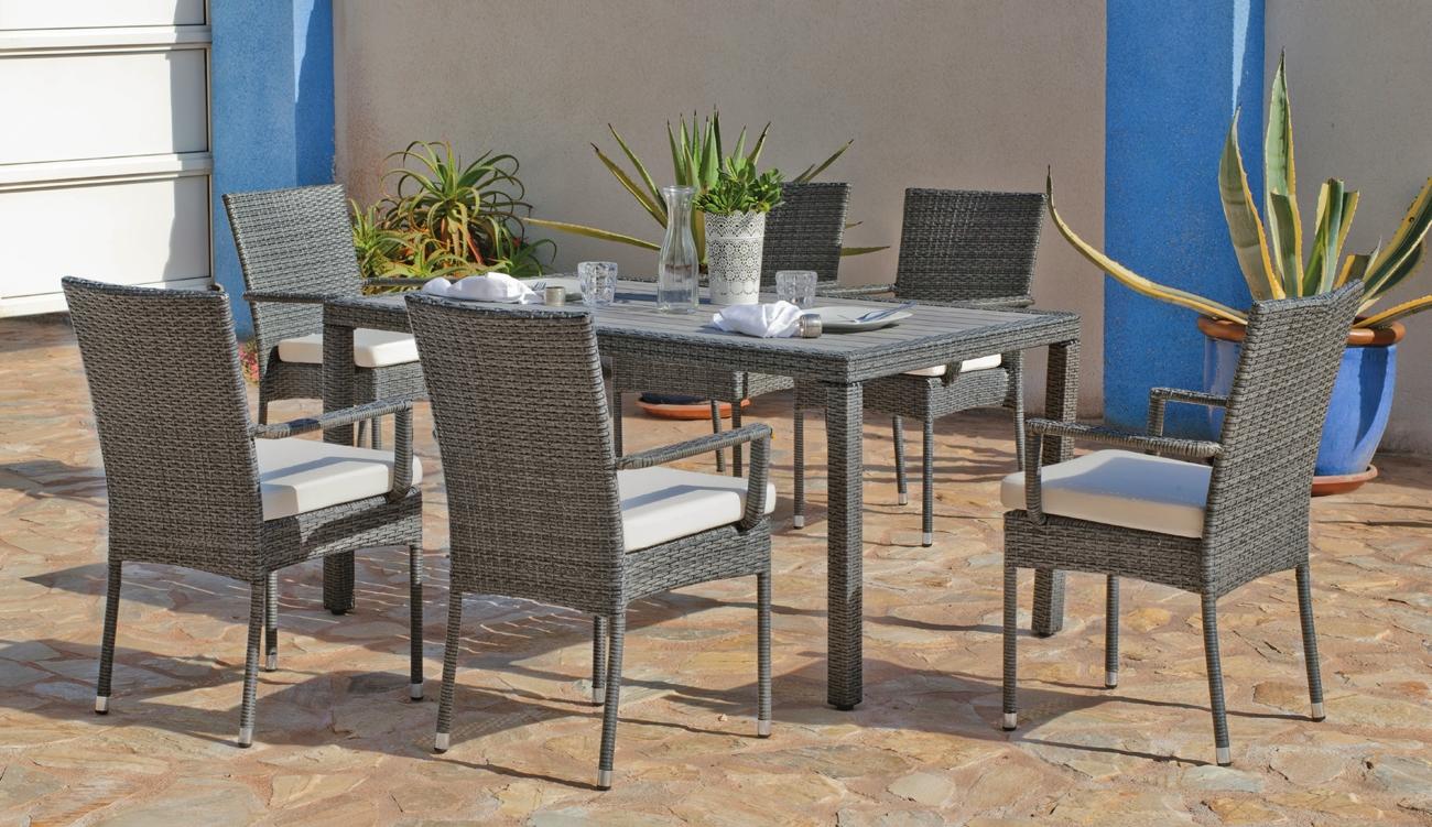 Set mesa de comedor para exteriores BORENA/MALI 150 - Mesa de comedor con resistencia garantizada y acabado de lujo BORENA/MALI 150