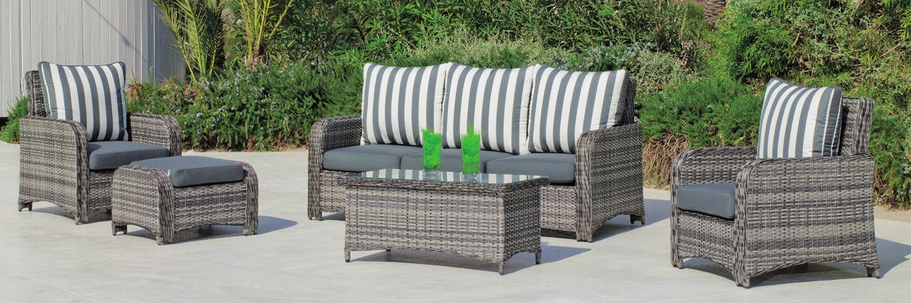 Set muebles de lujo para exteriores CALASOL 8  - Muebles de Rattan de lujo con resistencia garantizada CALASOL 8
