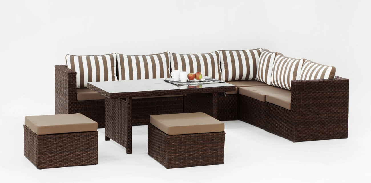 Set muebles de lujo para exteriores Caruno 10 - Set muebles de lujo para exteriores Caruno 10