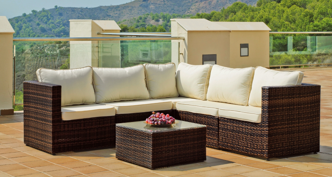 Set de sof s para exterior alpes for Sofa exterior oferta