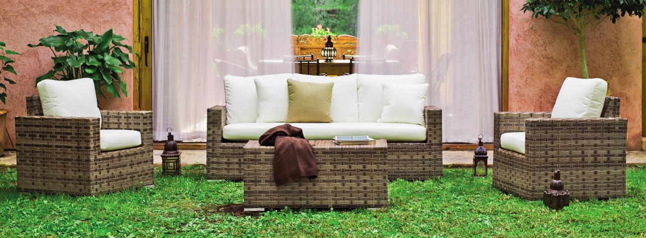 Set sofá sillones y mesa de lujo para exteriores Casablanca 8 - Set sofá sillones y mesa de lujo para exteriores Casablanca 8