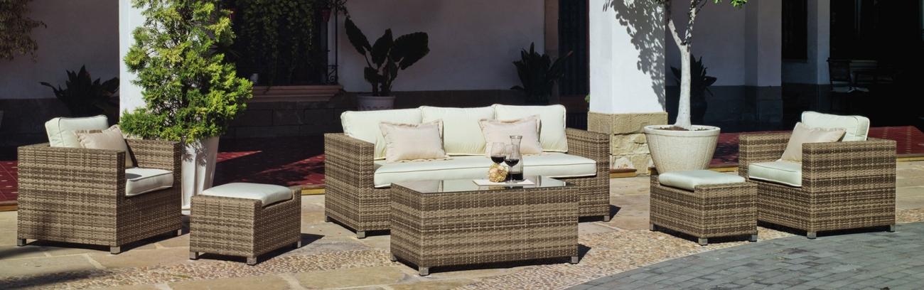Set muebles de lujo para exteriores Casanova 8 - Muebles robustos con resistencia garantizada