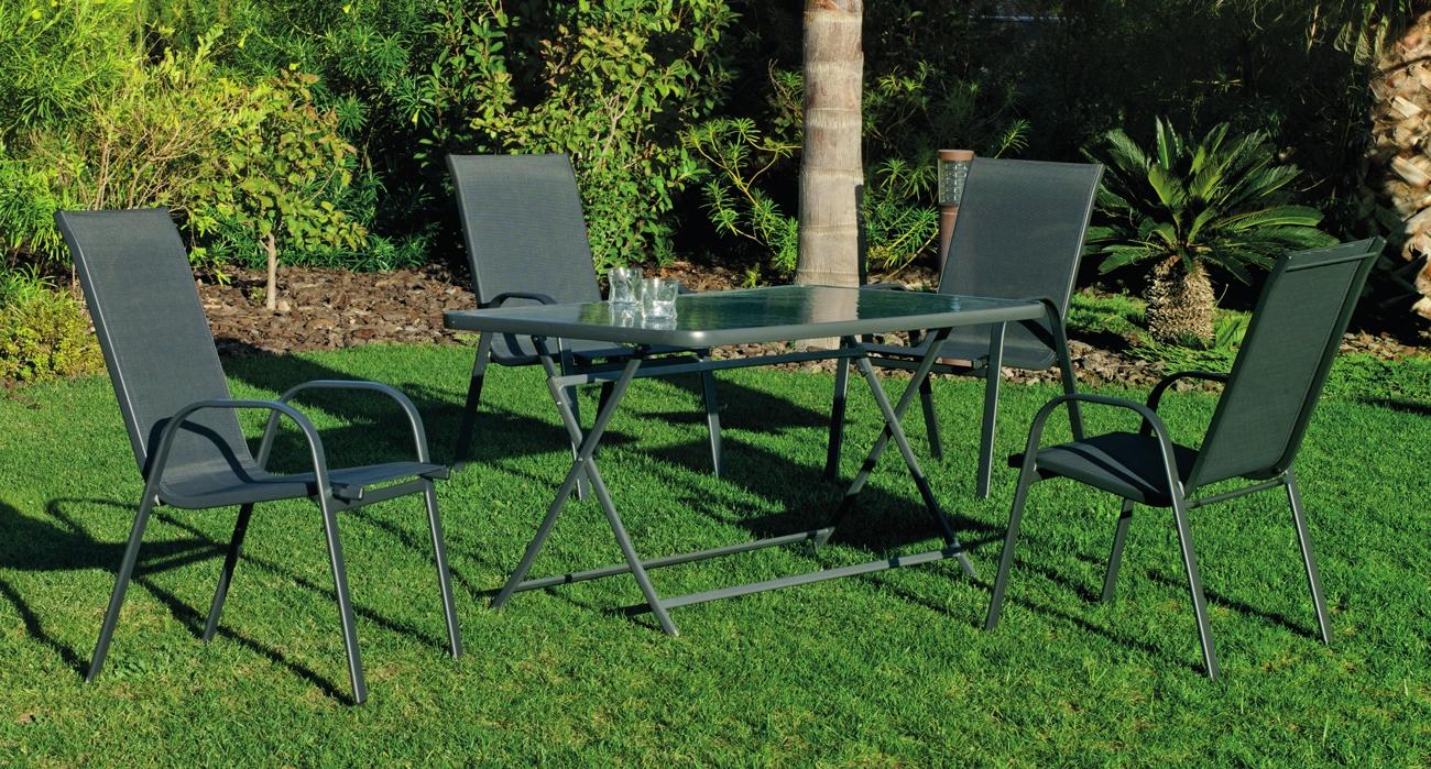 Set sillas y mesa modelo Cordoba Sulam 140 - Set sillas y mesa modelo Cordoba Sulam 140