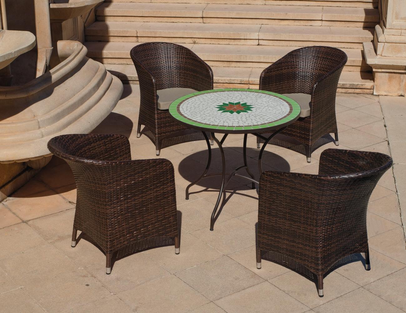 Set sillas o mesa mosaico modelo Danubio/Flandes 90 - Set sillas o mesa mosaico modelo Danubio/Flandes 90