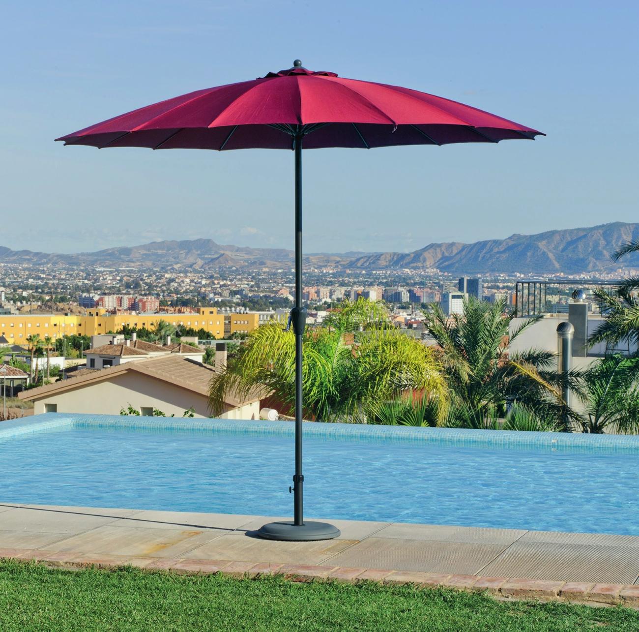 Parasoles o sombrillas para la terraza y jardin