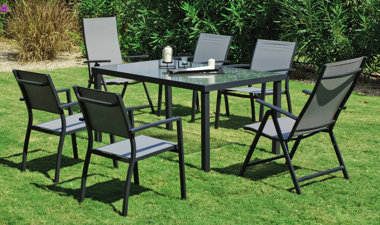 Set de jardín en aluminio Horizon 150 - Set de jardín en aluminio Horizon 150