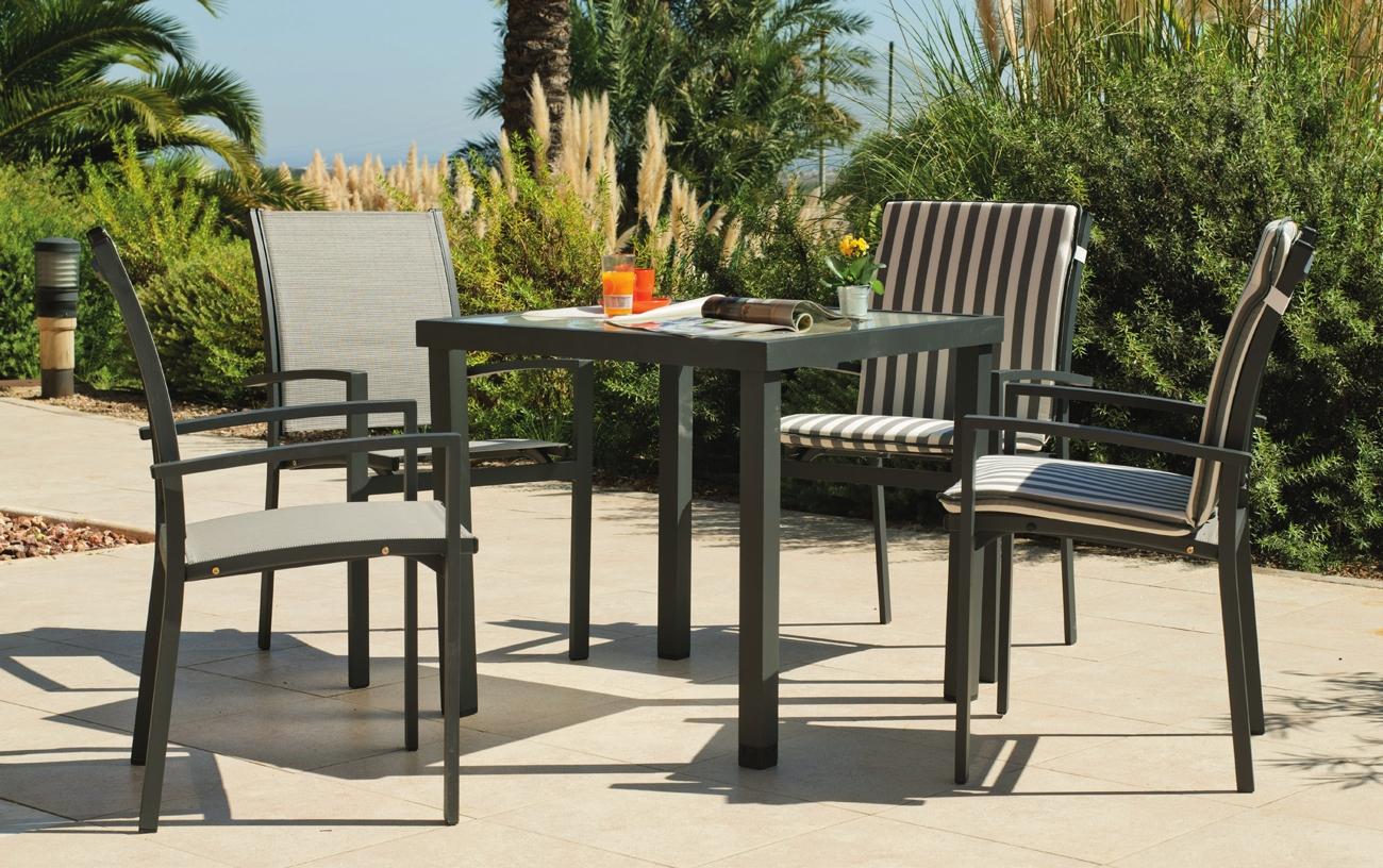 Set de jardín de comedor en aluminio Horizon 808 - Set de jardín de comedor en aluminio Horizon 808