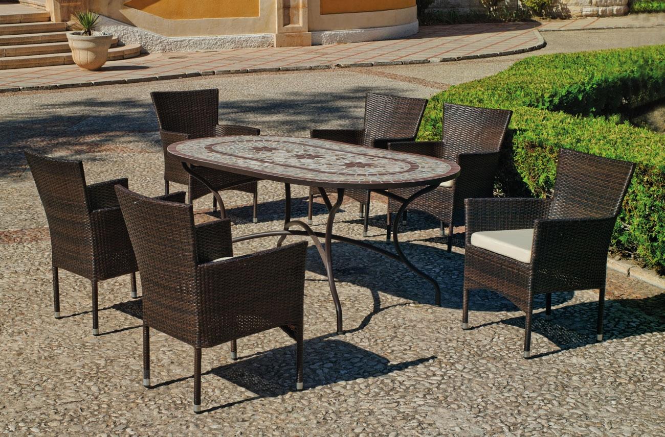 Set sillas y mesa mosaico Luana/Luxton