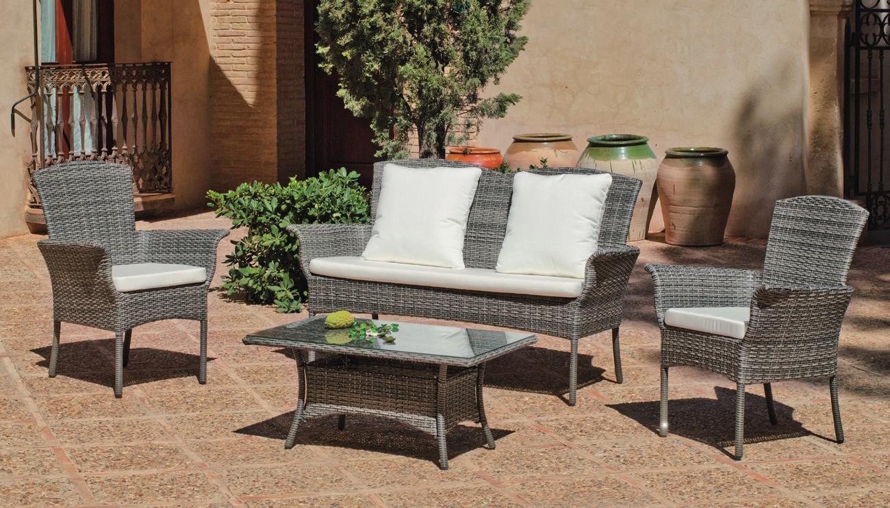 Set muebles de lujo para exteriores MALI 7 - Muebles de Rattan de lujo con resistencia garantizada MALI 7