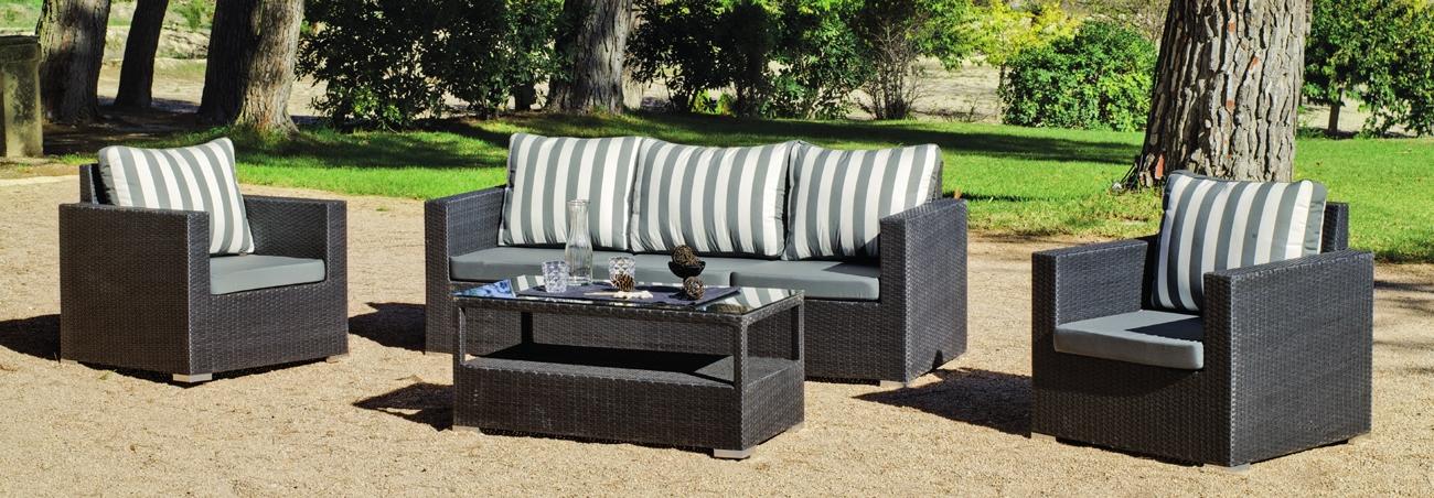 Set muebles de lujo para exteriores Manhatan 8 - Muebles de Rattan de lujo con resistencia garantizada.