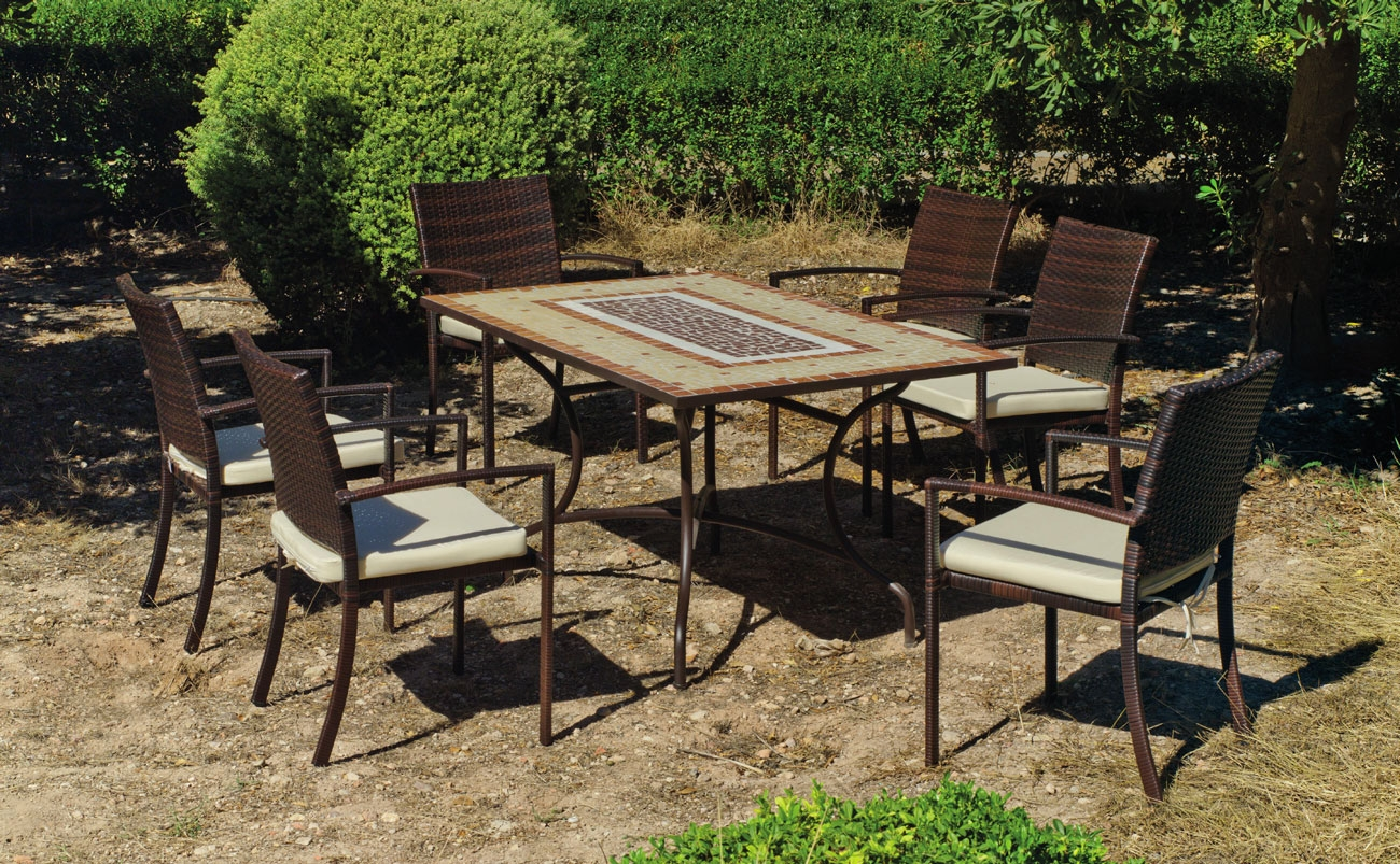 Set sillas y mesa mosaico Mara/Bahia - Set sillas y mesa mosaico Mara/Bahia