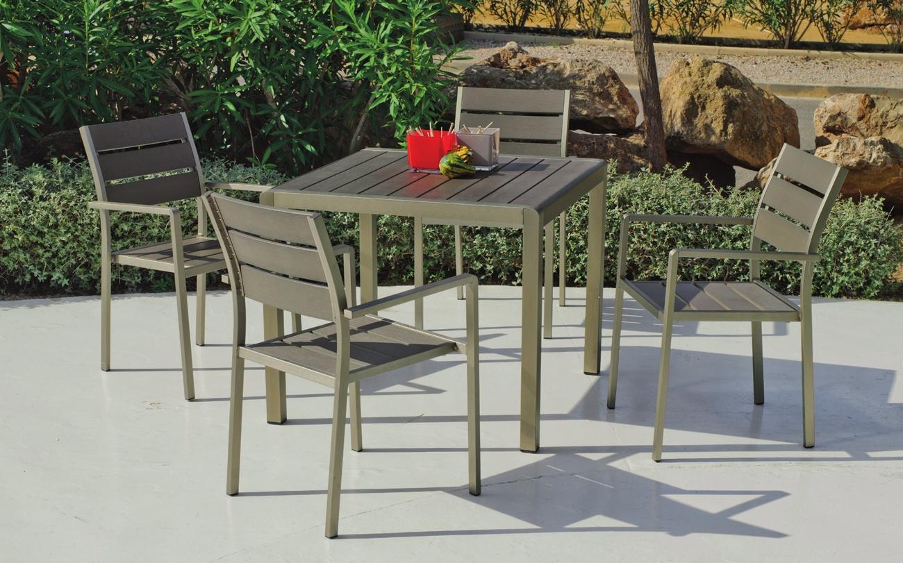 Set mesa de comedor para exteriores Eden 909 - Set mesa de comedor para exteriores Eden 909