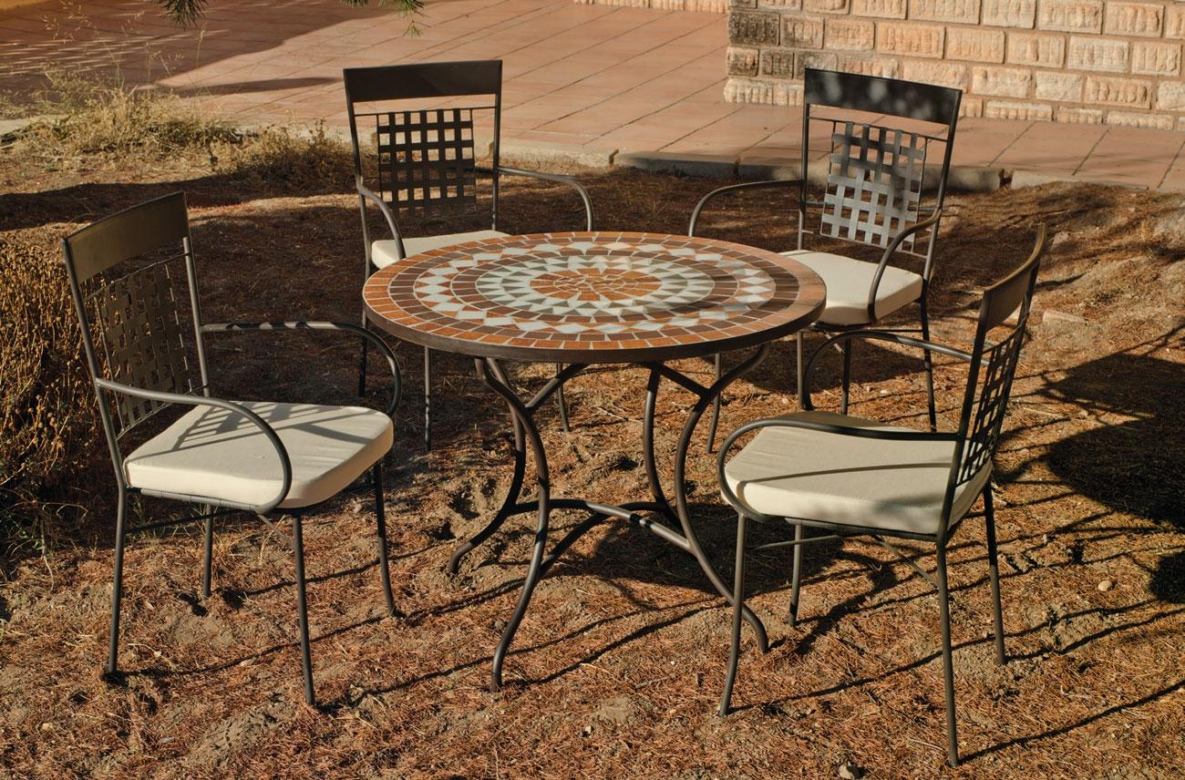 Set sillas o mesa mosaico modelo Saida/Vigo 90 - Set sillas o mesa mosaico modelo Saida/Vigo 90