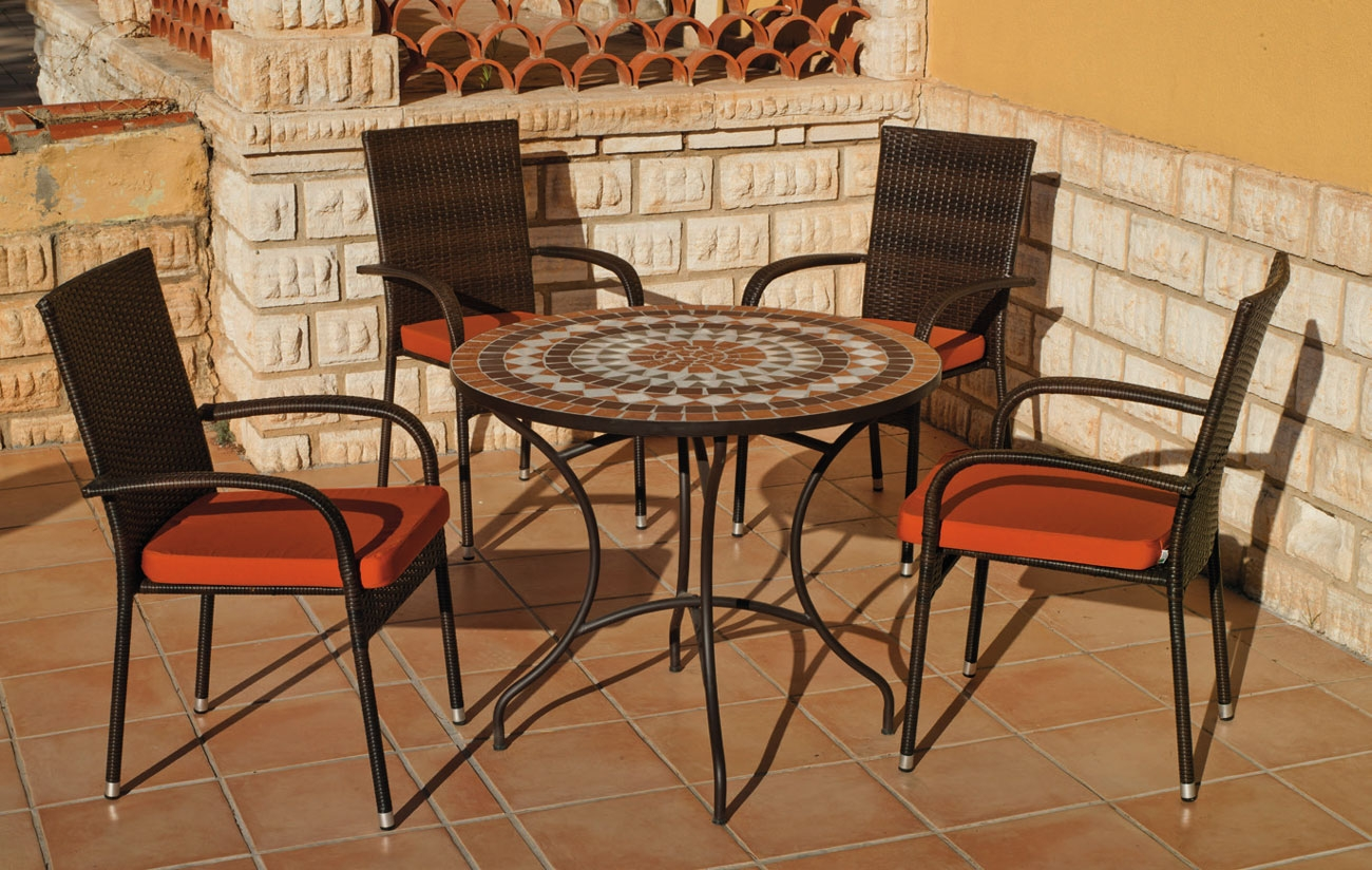 Set sillas o mesa mosaico modelo Saida/Bergamo 90 - Set sillas o mesa mosaico modelo Saida/Bergamo 90