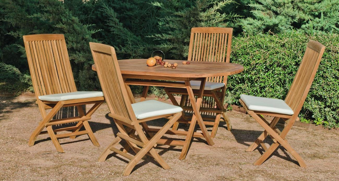 Set sillas y mesa madera modelo Seroni 140 - Set sillas y mesa madera modelo Seroni 140