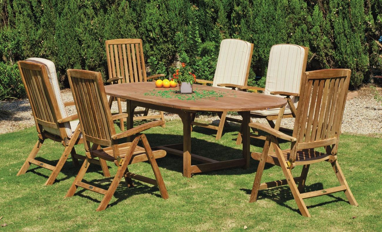 Set mesa de comedor para exteriores Seroni-Macom - Mesa de comedor con resistencia garantizada y acabado de lujo Seroni-Macom