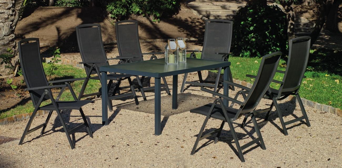 Set de jardín en aluminio Horizon Brescia 150 - Set de jardín en aluminio Horizon Brescia 150