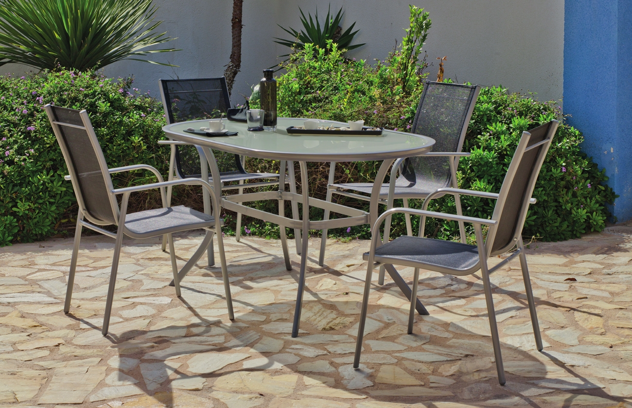 Set de jardín Nora 150 - Set de jardín fabricado en aluminio.