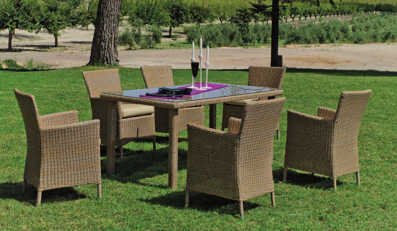 Set de comedor de lujo para exteriores Venus - Set mesa de comedor de lujo para exteriores Venus
