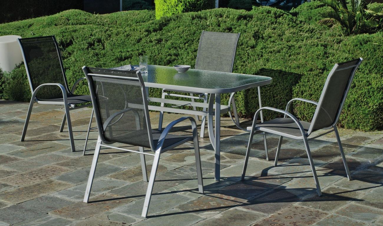 Set sillas y mesa modelo Seul 150/180 - Set sillas y mesa modelo Seul 150/180