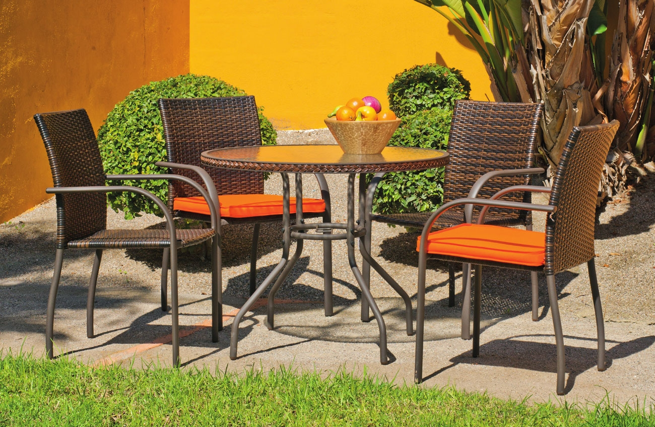 Set sillas y mesa modelo Sevilla 90 - Juego de mesa desmontable de acero con cristal templado modelo Sevilla