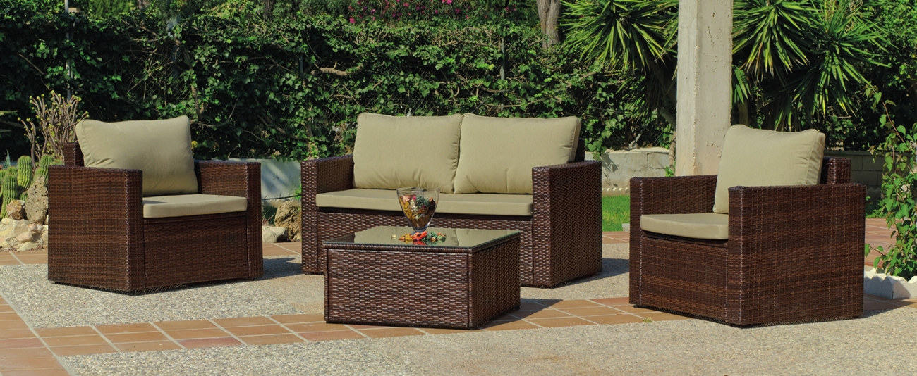 Set sofa para exteriores Lille 7 - Set sofa para exteriores Lille 7