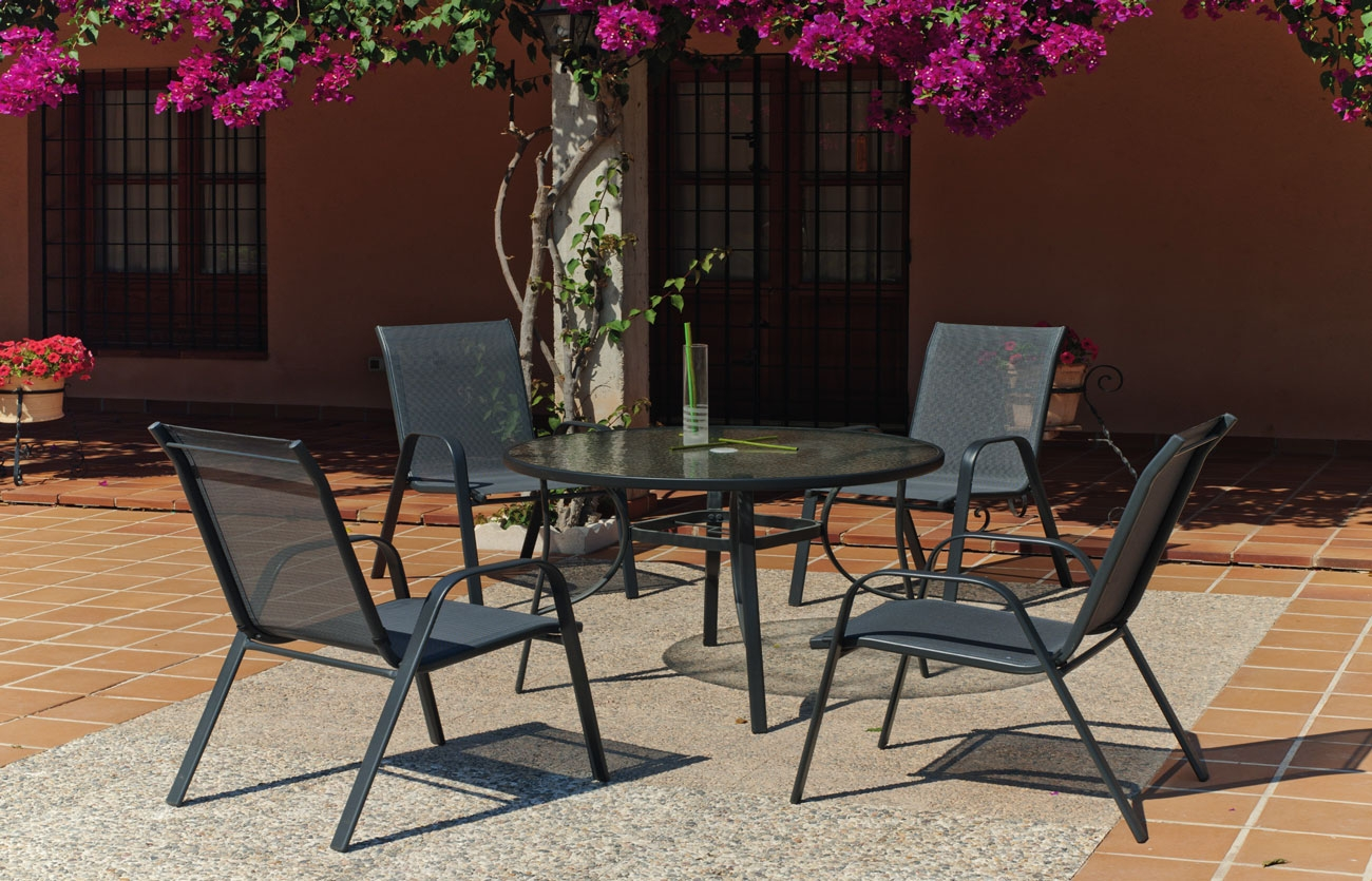 Set sillas y mesa modelo Sulam 120 - Set sillas y mesa modelo Sulam 120
