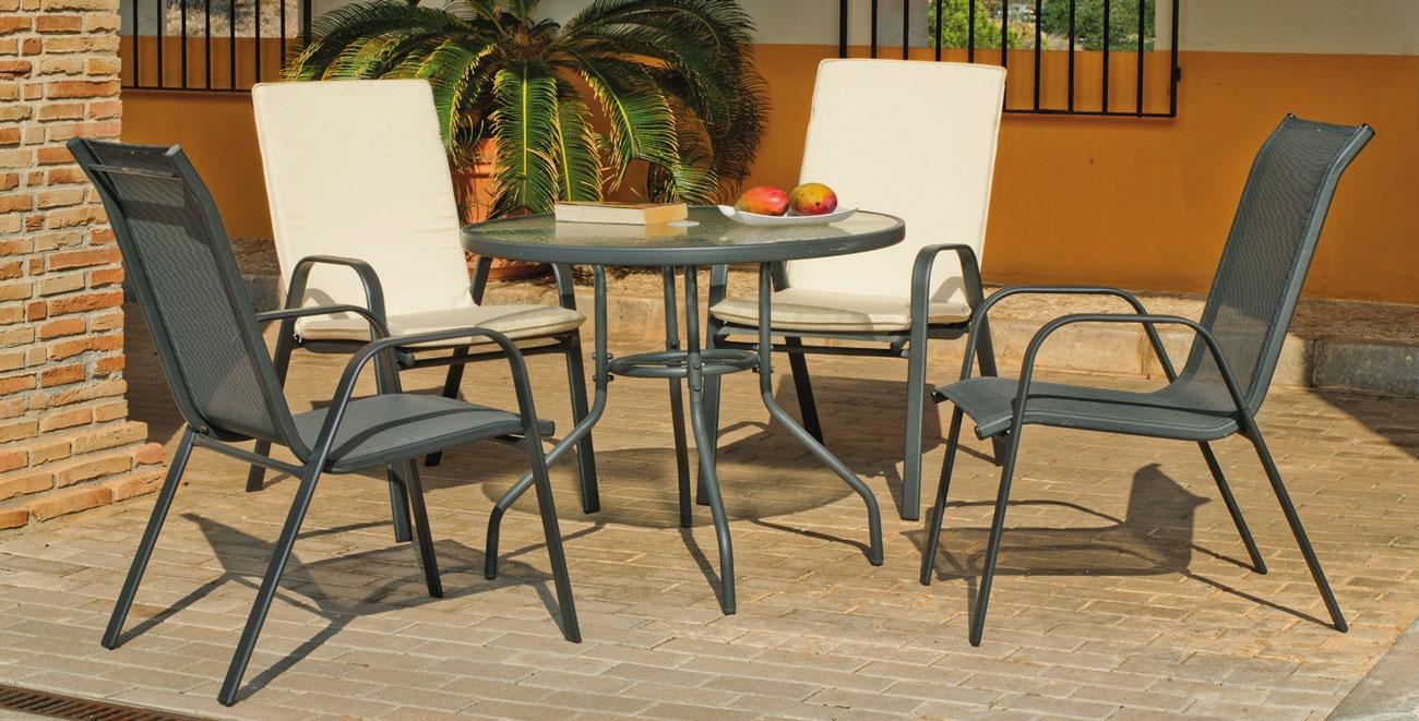 Set sillas y mesa modelo Sulam 90 - Set sillas y mesa modelo Sulam 90