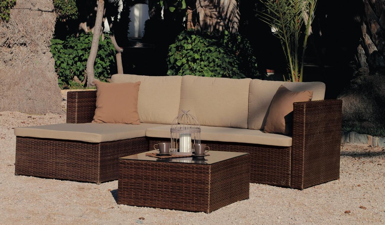 Set de muebles para exteriores TABANA 7 - Set de muebles de jardín TABANA 7