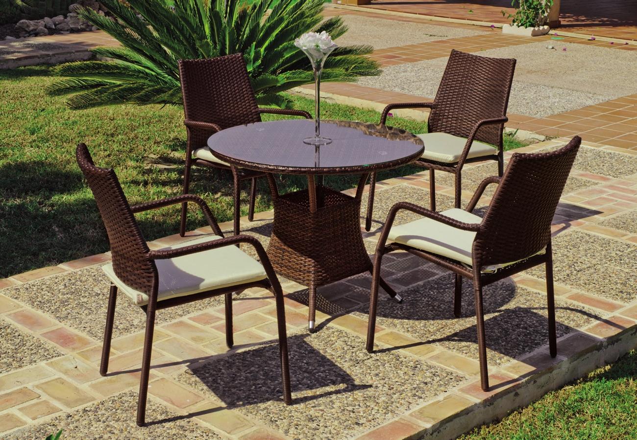 Mesa o sillas de jardín Tarsos 90  - Mesa o sillas de jardín Tarsos 90