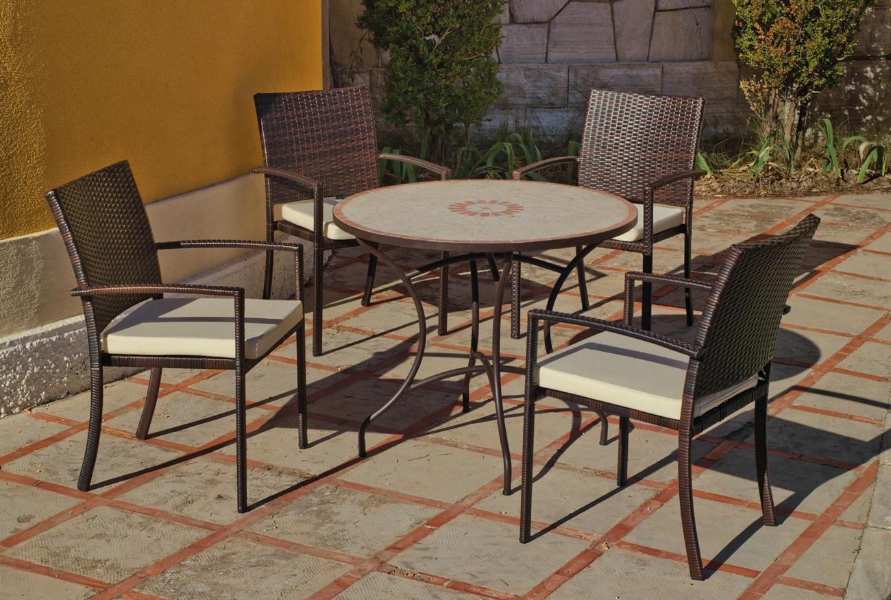 Set sillas o mesa mosaico modelo Telma/Bahia 90