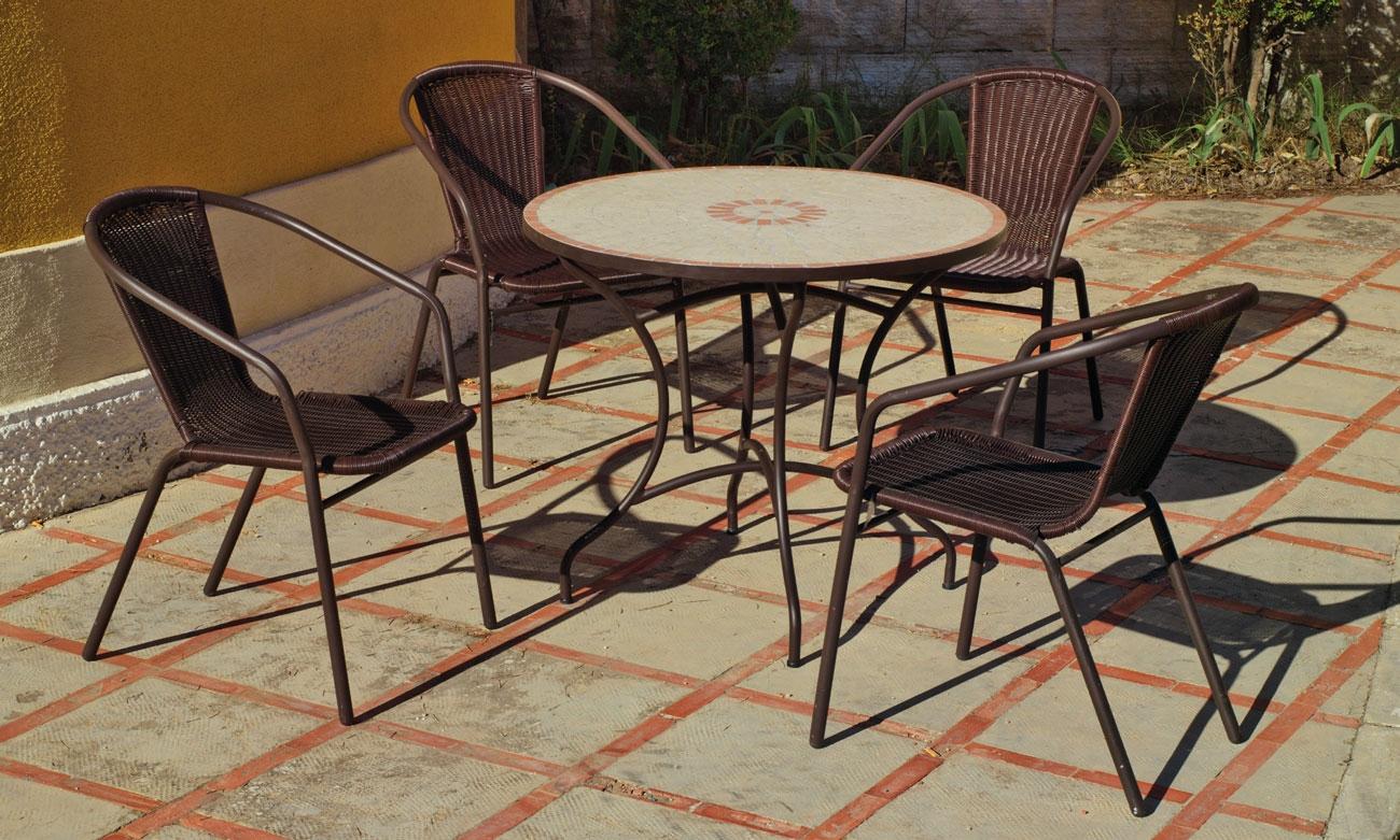 Set sillas o mesa mosaico modelo Telma/Damasco 90 - Set sillas o mesa mosaico modelo Telma/Damasco 90