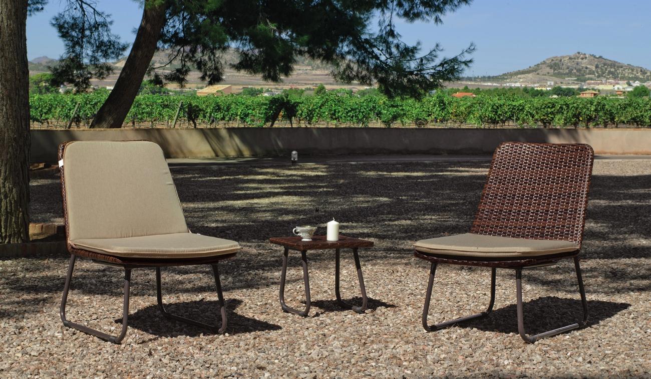 Set de sillones huitex relax y mesa auxiliar TROPICANA - Sillón huitex relax + Mesa de auxiliar huitex, acabado de lujo